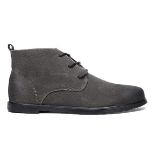 Retro Lace-Up Suede Ankle Boots - GRAY 43