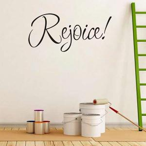 Christmas Rejoice Removeable Window Glass Wall Sticker -
