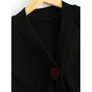 Knitted Dolman Sleeve Cardigan -