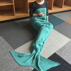 Hemp Flower Comfortable Knitting Sofa Mermaid Blanket -