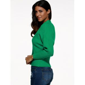 Batwing Sleeve Buttoned Cardigan -