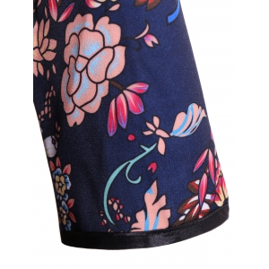 Chinese Style Flower Print Vintage Dress -