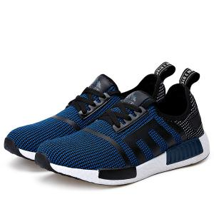 Breathable Colour Spliced Tie Up Athletic Shoes -