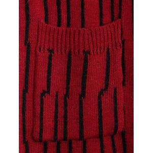 Front Pockets Design Button Up Hand-Knitted Sweater Vest -