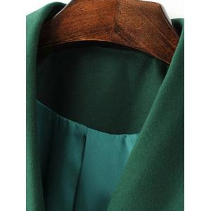 Belted Wool Blend Long Shawl Coat -