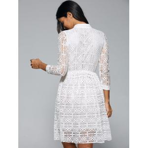 Openwork Sheer Lace Dress -