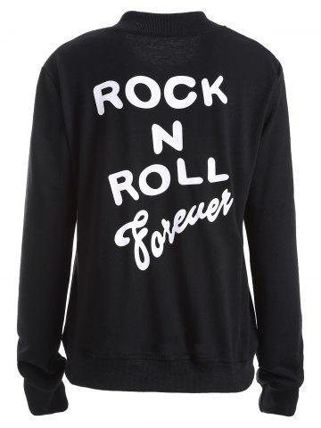 Unique Rock N Roll Forever Graphic Bomber Jacket