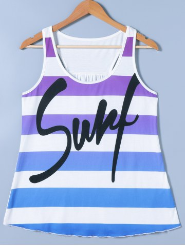 Shops Ombre Striped Funny Tank Top