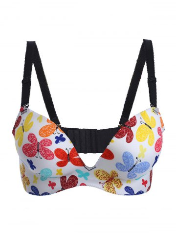 Outfits Butterfly Print Padded Bra