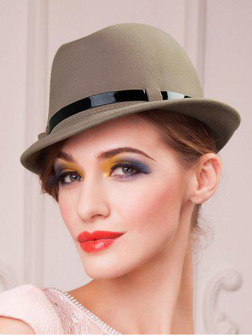Discount Embellished Flanging Wool Fedora Hat