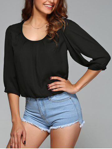 Hot Half Sleeve Crop Blouse