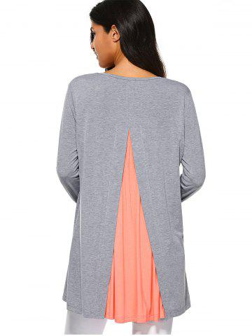 Affordable Back Slit Smock Blouse