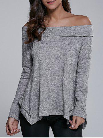 New Off-The-Shoulder Asymmetrical Blouse