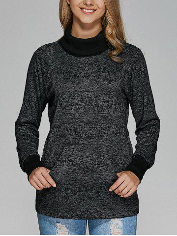 Hot Raglan Sleeve Heathered Sweatshirt