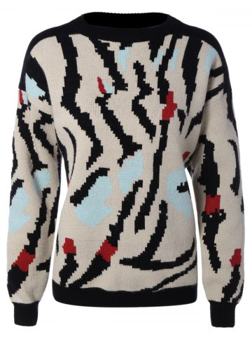 Outfit Jacquard Knit Pullover Sweater