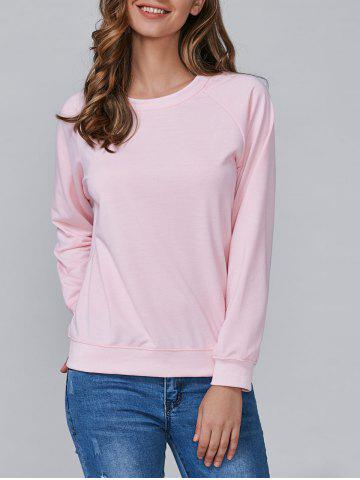 Outfit Loose-Fitting Long Sleeves Sweatshirt SHALLOW PINK M