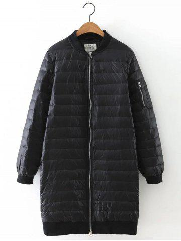 Best Stand Collar Zipped Down Coat