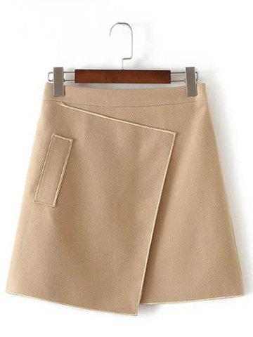 Sale Applique Hidden Zipped Tweed Skirt