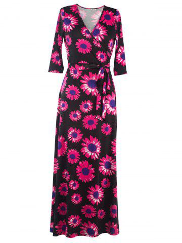 Buy Wrap Sunflower Maxi Dress