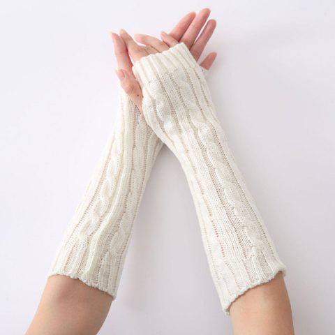 Online Christmas Winter Hemp Flowers Crochet Knit Arm Warmers