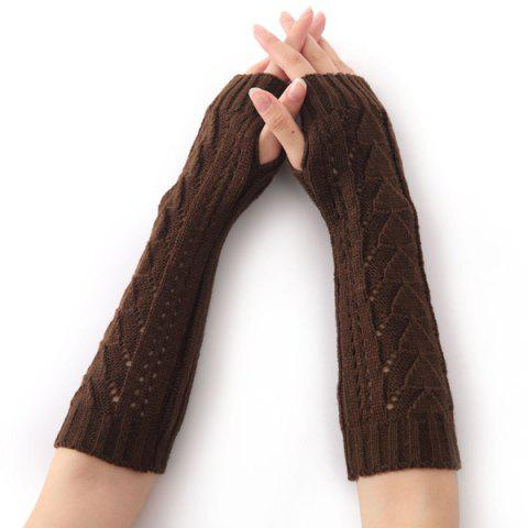 Chic Christmas Winter Triangle Hollow Out Crochet Knit Arm Warmers