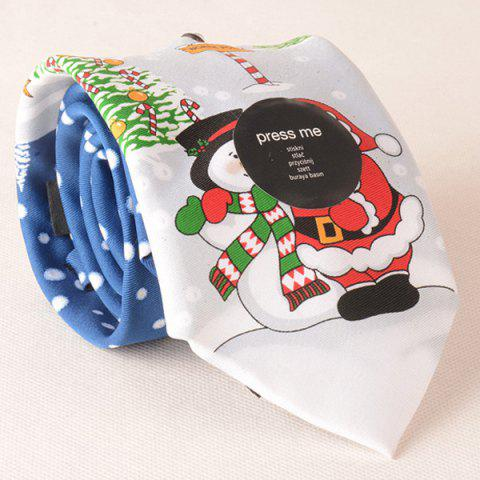 Online Funny Santa Claus Light Up and Singing Design Christmas Tie