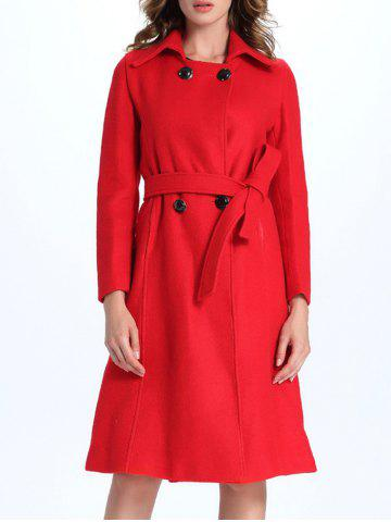 Best Belted A Line Long Coat