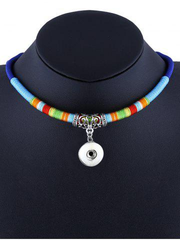Best Emboss Alloy Ethnic Rope Pendant Necklace