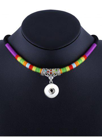 Affordable Engrave Alloy Ethnic Rope Pendant Necklace