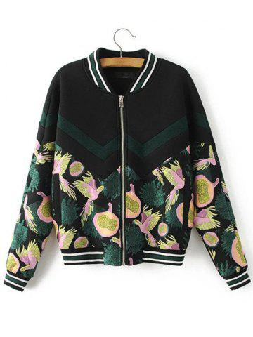 New Vintage Bird Of Piece Embroidered Baseball Jacket