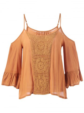 Chic Cami Cut Out Crochet Insert Blouse