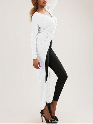 Shops High-Low Wrap Ruched T-Shirt