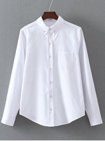 Affordable Button Down Long Sleeve Shirt with Pocket