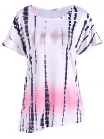 Outfits Casual Ink Painting Print Ombre Blouse