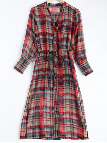 Store Tank Top + Button-Down Plaid Belted Dress Twinset