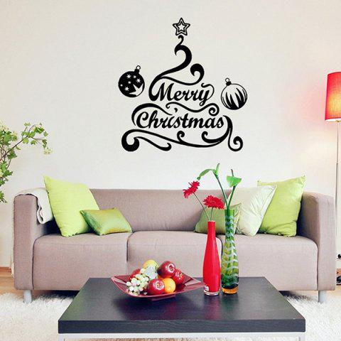 Shop Merry Christmas Bell Removeable Window Glass Wall Sticker BLACK