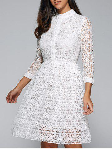Online Openwork Sheer Lace Dress