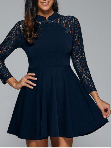 Sale Lace Appliques Fit and Flare Dress