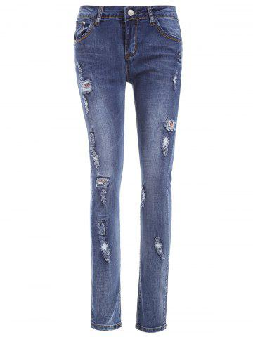 Buy Skinny Ripped Patch Jeans