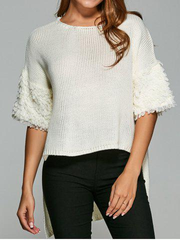 Shops Half Sleeve High Low Pullover Knitwear