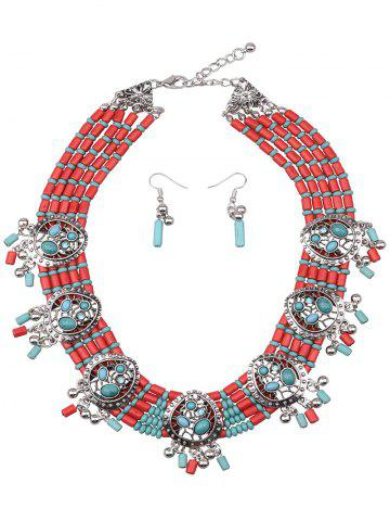 Store Bohemia Turquoise Water Drop Beads Jewelry Set