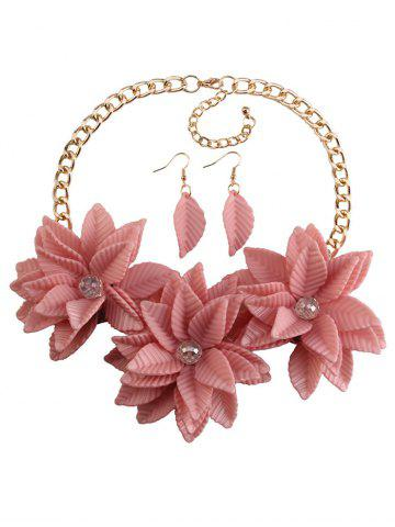Outfits Leaf Blossom Necklace and Earrings