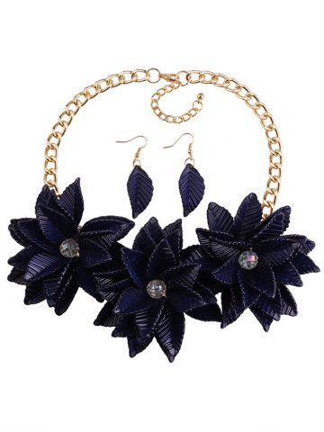 Chic Leaf Blossom Necklace and Earrings