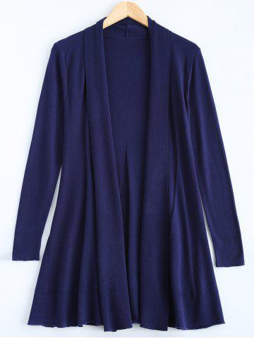 Chic A-Line Draped Cardigan