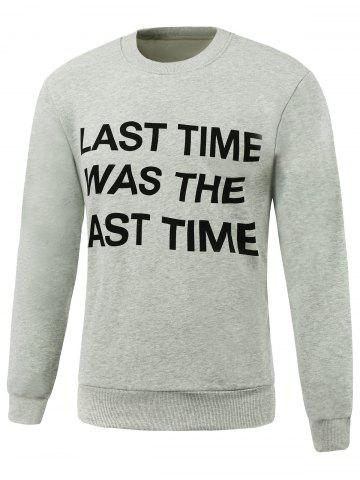 Outfit Letters Printed Design Round Neck Long Sleeve Sweatshirt