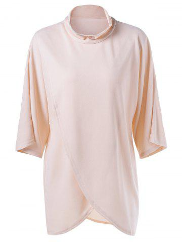 Online Asymmetrical Loose-Fitting Dress APRICOT S