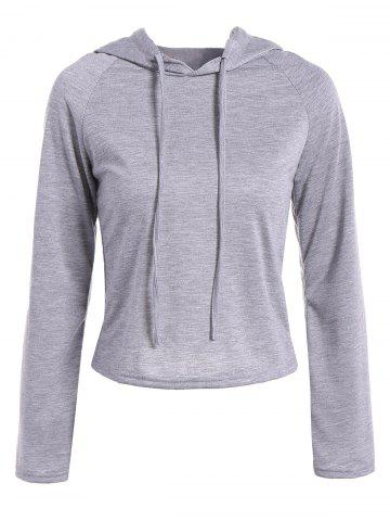 Buy Raglan Sleeve Drawstring Hooded T-Shirt