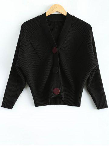 Affordable Knitted Dolman Sleeve Cardigan