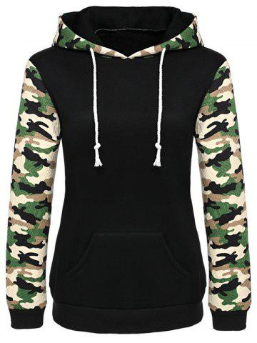 Shops Camouflage String Hoodie