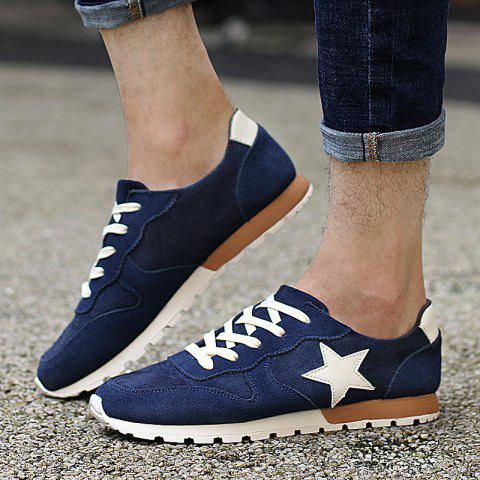 Outfits Colour Block Star Pattern Athletic Shoes - 42 DEEP BLUE Mobile